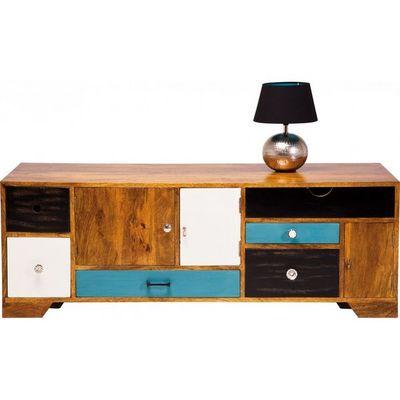 Kare Design - Meuble tv hi fi-Kare Design-Meuble TV en bois Babalou 130x50 cm