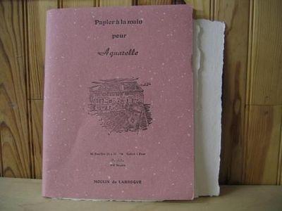 MOULIN DE LARROQUE - Papier à aquarelle-MOULIN DE LARROQUE-CAHIER AQUARELLE SATINE 25*32
