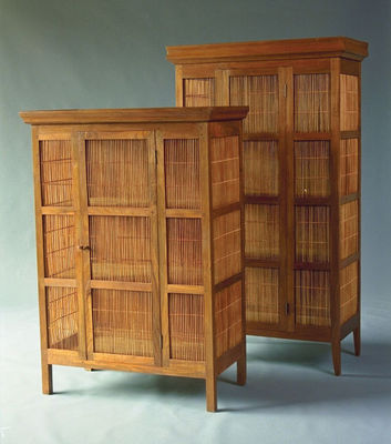 Matahati - Armoire à portes battantes-Matahati-Grande armoire teck et bambou