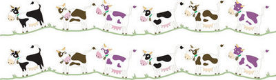 DECOLOOPIO - Sticker Décor adhésif Enfant-DECOLOOPIO-Frise Vache