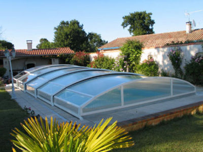 Abrideal - Abri de piscine bas coulissant ou télescopique-Abrideal-BRIO TPA