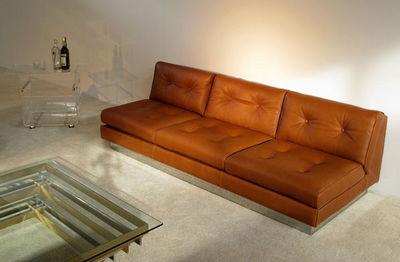 FURNITURE-LOVE.COM - Canapé 3 places-FURNITURE-LOVE.COM-Leather living Sofa 3 + 2 Pierre Folie Charpentier
