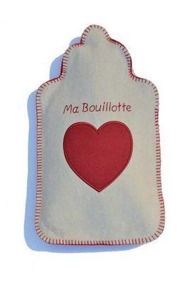 LES BOUILLOTTES DE BEA - Bouillotte-LES BOUILLOTTES DE BEA-MA BOUILLOTTE écru/rouge