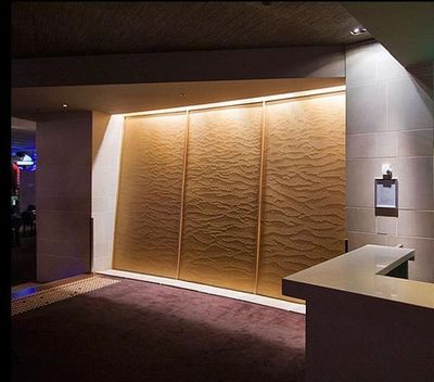 SDECO INTERIORS - Mur d'eau-SDECO INTERIORS-Big brown acrylic Panel