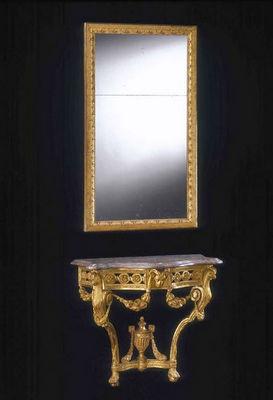 ARNOLD WIGGINS & SONS - Miroir-ARNOLD WIGGINS & SONS-Miroir du XVIIIème en bois sculpté doré