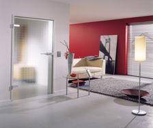 Saint-Gobain Glass - Porte de communication vitr�e-Saint-Gobain Glass-SGG CLARIT:Porte en verre