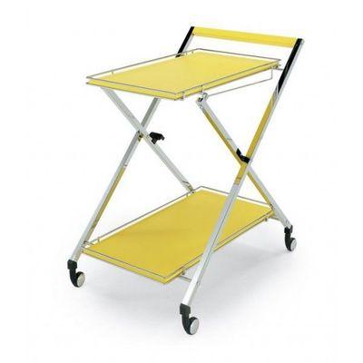 Wesco - Table roulante-Wesco-Desserte roulante pliable jaune