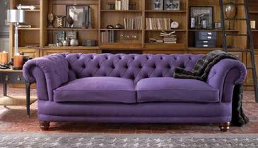canapé chesterfield violet