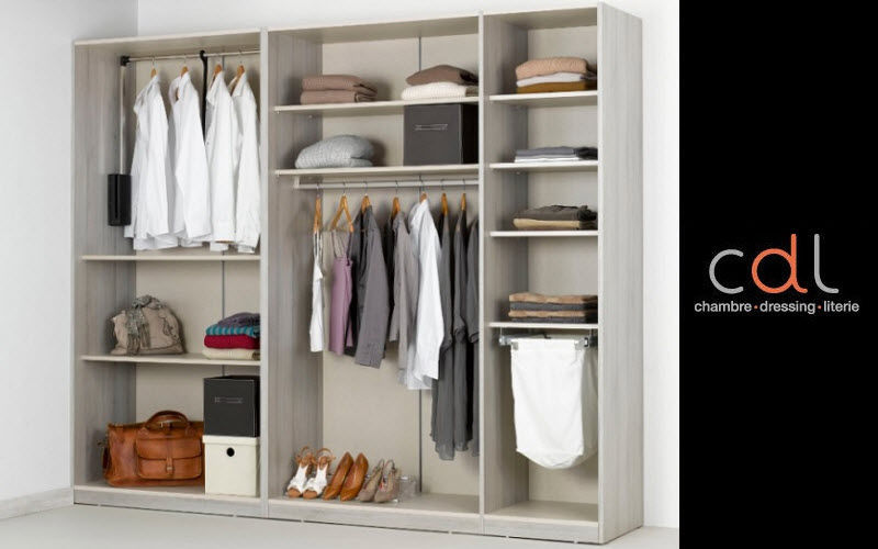 CDL Chambre-dressing-literie.com Straight Walk-in Closet Dressing rooms Wardrobe and Accessories  |