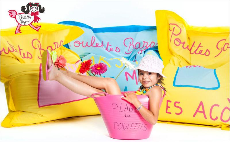 POULETTES BAZAR Floor cushion Footstools and poufs Seats & Sofas   