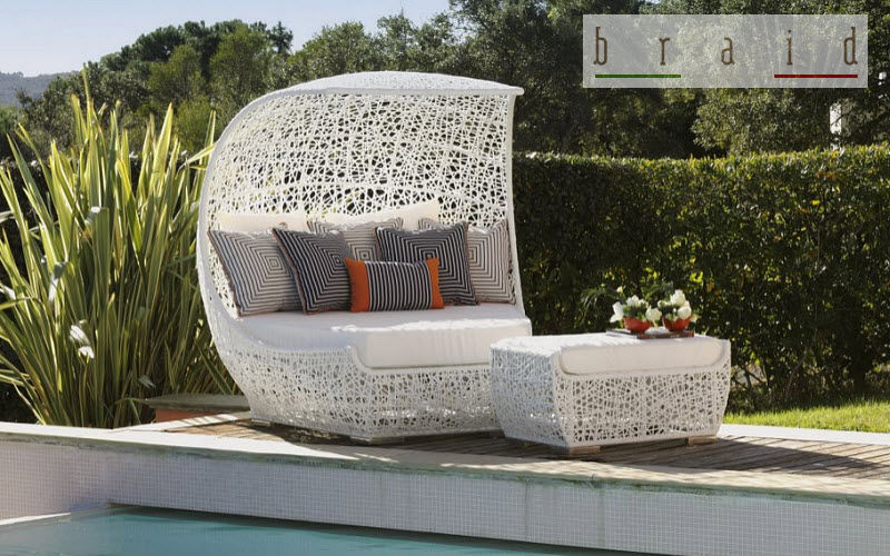 BRAID Outdoor bed Garden chaises longues Garden Furniture Garden-Pool | Cottage