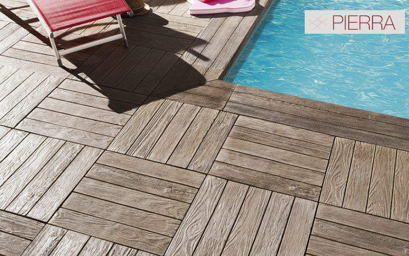Pierra Pool deck Kerbs and borders Swimming pools and Spa Garden-Pool | Cottage