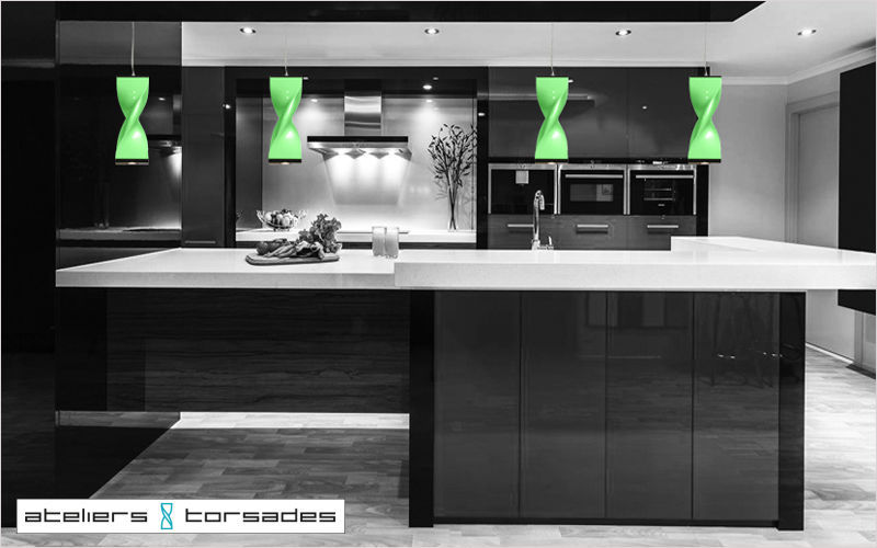 ATELIERS TORSADES Hanging lamp Chandeliers & Hanging lamps Lighting : Indoor Kitchen | Design Contemporary