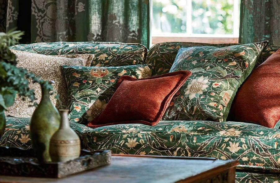 MORRIS & CO Velvet Furnishing fabrics Curtains Fabrics Trimmings  |