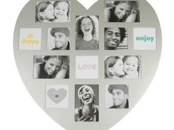 Present Time - cadre photo coeur argent - Photo Frame