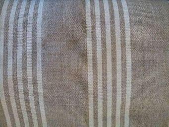 rideau-voile - tissu 100% lin rayure ligne blanc deco -