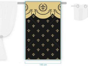 Rideau-voile - empire fleur de lys 18�me si�cle - Eyelet Curtain