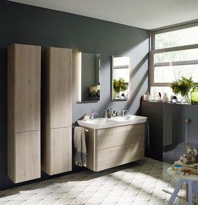Bathroom double storage cabinet