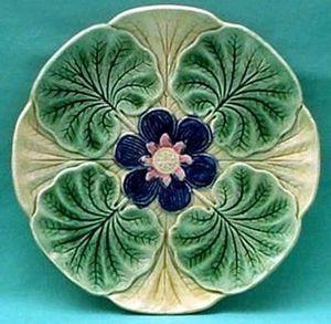 Barbotine Belge Oyster plate