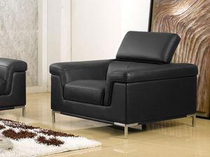 WHITE LABEL - fauteuil cuir rania - Armchair