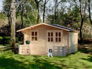 Chalet & Jardin - chalet de jardin en sapin 15,92 m² avec terrasse - Wood Garden Shed