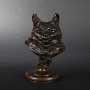 Expertissim - e. fremiet. le chat botté en bronze. - Animal Sculpture