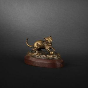 Expertissim - chat en bronze - Animal Sculpture