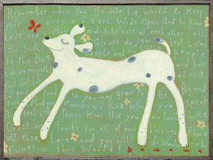 Sugarboo Designs - art print - large girl dog - Decorative Painting
