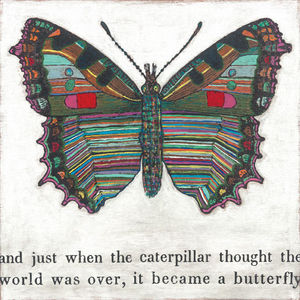 Sugarboo Designs - art print - butterfly 36 x 36 - Decorative Painting