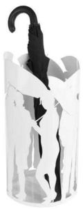 Balvi - porte parapluies design en métal blanc people 43x2 - Umbrella Stand