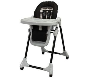 LOOPING - chaise haute tlescopique black lines - Baby High Chair