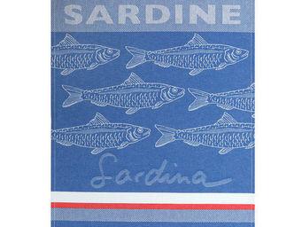 Jean Vier - arnaga sardine bleu - Hand Towel