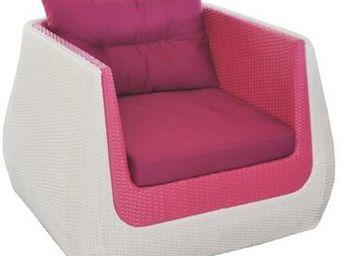 PROLOISIRS - fauteuil ice cream en résine tressée vanille frais - Deck Armchair