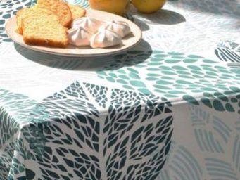 FLEUR DE SOLEIL - coton feuille - Square Tablecloth