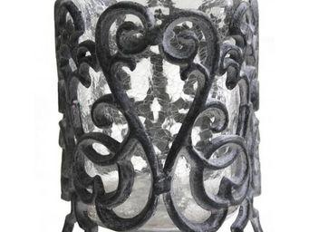 L'HERITIER DU TEMPS - photophore en fonte et verre - Candle Jar