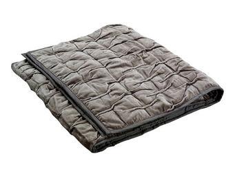 Interior's - chemin de lit marron plissé - Bed Cover