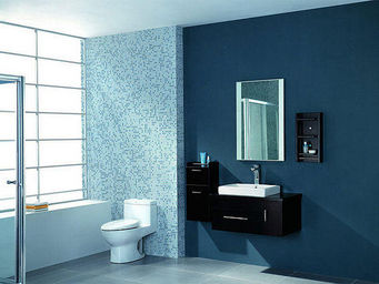 UsiRama.com - meuble salle de bain design black-eye 90cm - Bathroom Furniture