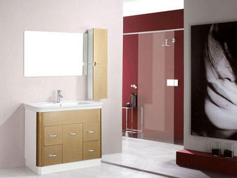 UsiRama.com - meuble salle de bain croustade 1m - Bathroom Furniture
