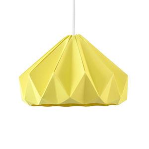 SNOWPUPPE - chestnut - suspension papier jaune automne ø28cm | - Hanging Lamp