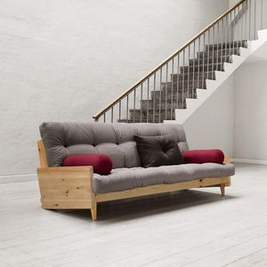 WHITE LABEL - canapé 3/4 places convertible indie style scandina - 3 Seater Sofa