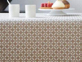 FLEUR DE SOLEIL - mosaique beige - Coated Tablecloth