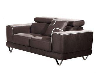WHITE LABEL - canapé 2 places - cairo - l 159 x l 100 x h 76/96 - 2 Seater Sofa