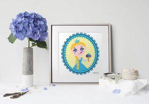 la Magie dans l'Image - print art héros reine des neiges - Decorative Painting