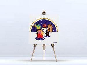 la Magie dans l'Image - toile héros muppet - Digital Wall Coverings