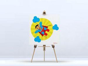 la Magie dans l'Image - toile héros superman - Digital Wall Coverings