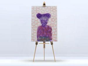 la Magie dans l'Image - toile ma petite souris fond orange - Digital Wall Coverings