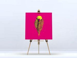 la Magie dans l'Image - toile perroquet rose - Digital Wall Coverings