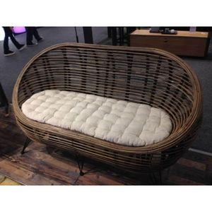 Mathi Design - canapé design ball rotin - 2 Seater Sofa