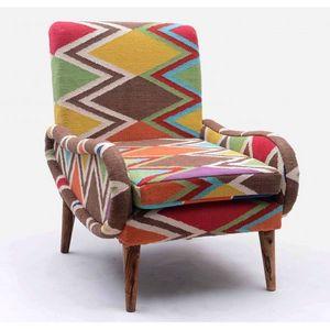 Mathi Design - fauteuil kilim shaki - Armchair