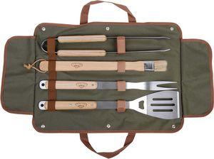 Esschert Design - mallette en toile avec ustensiles barbecue - Bbq Briefcase